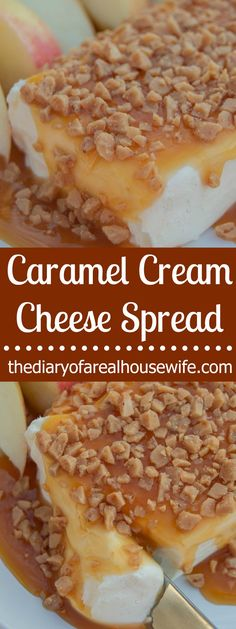 This easy Caramel Cream Cheese Spread makes's the perfect treat for any gathering. It's the perfect spread for apple sliced or graham crackers. Cobbler, Baking Recipes, Dessert Recipes, Breakfast Recipes, Mousse, Cheese Fruit, Vegan Cheese, Baked Cheese, Cheese Sauce