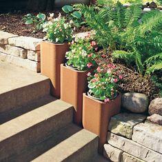 Clay Chimney Flue Liners Make Great Planters Herb Garden, Gardening Hacks, Container Gardening, Backyard Garden Landscape, Garden Trees, Backyard Landscaping, Buy Clay, Seating Areas, Deck Planters