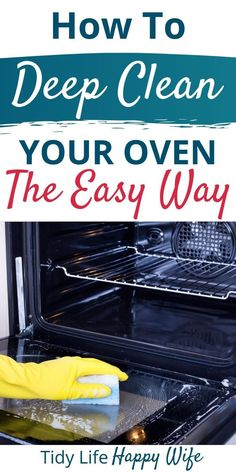 Does the thought of cleaning your oven have you wishing for a root canal? I hear ya and that's why I'm showing you how to deep clean your oven the easy way! Cleaning Oven Racks, Self Cleaning Ovens, Household Cleaning Tips, Cleaning Walls, House Cleaning Tips, Diy Cleaning Products, Deep Cleaning, Spring Cleaning, Cleaning Checklist