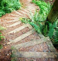 stairs down steep slope or hillside