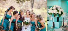Ideas para decorar tu boda en marrón chocolate y azul turquesa