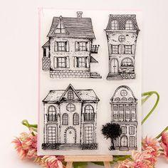 Casa Scrapbook FAI DA TE cartoline fotografiche conto timbro di gomma chiara impronta timbro trasparente 16x22 cm KW681001