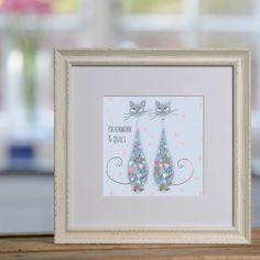 The perfect gift for cat lovers... Personalised cat prints from sophiemorrell.com #cats #prints #personalised