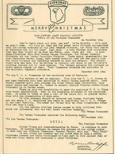 To the German Commander: NUTS! 24 Dec 1944