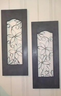 I got the this off pentrist except they used picture frames,mine is 2 small wooden window shutters minus the shutters,ithe inside is toliet paper rolls cut spraypaint the color of you choise,pretty cool