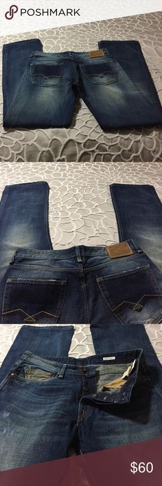 Man Jeans Man Jeans ,long  straight Replay Blue jeans great condition.W33L34. Replay Jeans Straight
