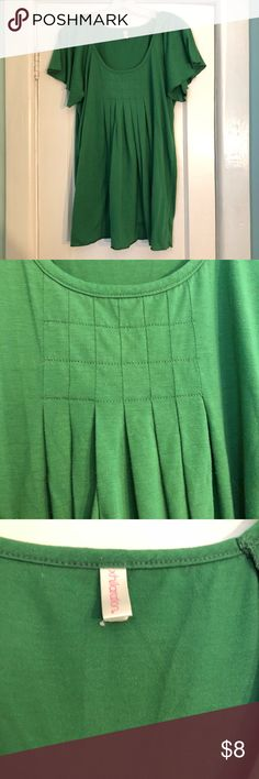 Xhilaration Green Flowy Blouse Good used condition. Pilling in the underarm shown in photos. XXL size tag cut out because it was itchy. Home is smoke free and cat friendly. Xhilaration Tops