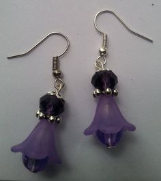 Check out this item in my Etsy shop https://www.etsy.com/listing/250726562/purple-flower-dangle-earring