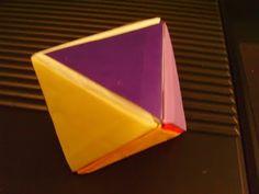 Origami of Geometric Figures: Origami of Octahedron