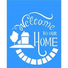 Stencil Welcome II 20x25 - OPA                                                                                                                                                                                 Mais