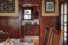 Our dining room after restoration. This woodwork was painted when we bought the house. Laurelhurst Craftsman Bungalow: Alex Vertikoff's Photos