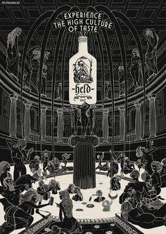 Held Vodka: Greek temple
