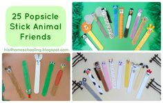 25 Popsicle Stick Animal Friends from H is for Homeschooling