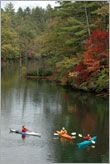 """For outdoor enthusiasts seeking verdant scenery and glimpses of wildlife, the flat water trails through the mountain lakes of western North Carolina offer all that and more. The rivers and lakes and the availability of quality kayak instruction are what has given Swain County the title of """"the Whitewater Capital."""""""