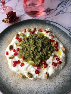 Labneh dip - Tasty Food SoMe Tasty, Yummy Food, International Recipes, Tapenade, Palak Paneer, Hummus, Dips, Bbq, Food And Drink