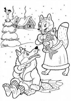 """Színezés """"A farkas és a róka"""" letöltés és a nyomtatási ingyen"""
