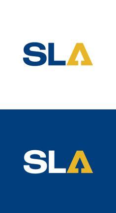 "Wortbildmarke, ""SLA"" Gebäude- u. Metall- u. Reinraumtechnik in Mautern Niederösterreich. Logo Design, Logos, Typography, Cards, Metal, Letterpress, Letterpress Printing, Map, Logo"