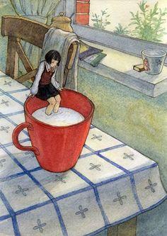 girl in tea