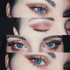 Beauty makeup, makeup goals, eye makeup tips, makeup trends, peach eye Makeup Trends, Makeup Inspo, Makeup Inspiration, Makeup Ideas, Makeup Tutorials, Eyeshadow Tutorials, Makeup Kit, How To Makeup, Makeup For Small Eyes