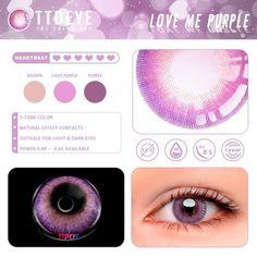 Love Me 3 Tone Purple Colored Contact Lenses Purple Contacts, Colored Contacts, Contact Lens Solution, Circle Lenses, Dark Eyes, I Feel Pretty, Edge Design, Ultra Violet, Light In The Dark