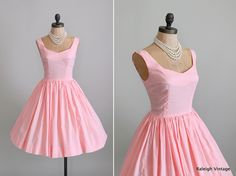 Vintage 1960s Dress : 60s Pink Crepe Sundress. $58.00, via Etsy.