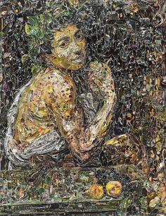 VIK MUNIZ  Sick Bacchus after Caravaggio digital stamps