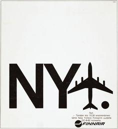 Mainos: Finnair DC-8, 1969
