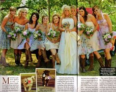 The boots with those dresses are just perfect!