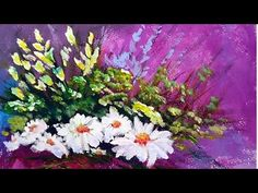 Acrylic Painting Technique: Creating Flowers Using A Circular Motion Technique - YouTube