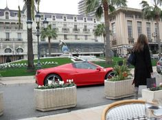 Cafe de Paris is the best spot for people and car watching