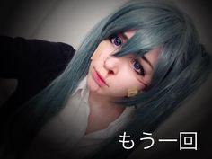 Hatsune miku rolling girl costest! I'm happy with how this turned out  I used a picture I found on Pinterest as a reference haha #hatsunemiku #hatsune #miku #vocaloid #wig #green #makeup #cosplay #costest #cosplayer #contacts #cosplaymakeup #wounds #fake #rollinggirlcosplay #rollinggirl #anime #vocaloidcosplay