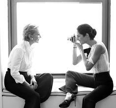 Carolina Herrera and Carolina Herrera Jr.