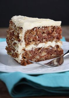 Apple Cake with Maple Buttercream and Pecan Trim is the best cake ever, period. Apple Cake Recipes, Apple Desserts, Just Desserts, Baking Recipes, Delicious Desserts, Dessert Recipes, Yummy Food, Apple Cakes, Awesome Desserts