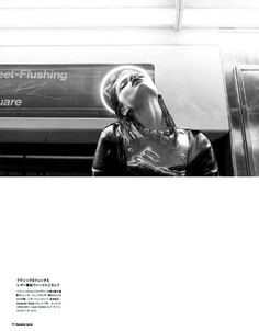 Sultry Subway Photoshoots : Crystal Renn for Numero Tokyo