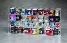 Beautiful and economical case! Acrylic Shot Glass Display - 40 Shotglasses