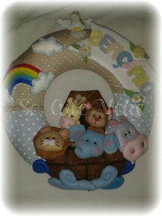 arca de Noé inspirada em mimos em feltro