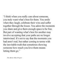 Letting them go..