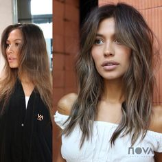 The Bardot 👌🏻✨ Color Cherin Choi Cut/Style sal sal sal sal by corteycolor Hair Color And Cut, Haircut And Color, Bardot Hair, My Hairstyle, Hair Today, Balayage Hair, Hair Dos, Gorgeous Hair, Dreads