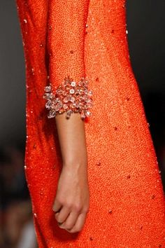 A hue I could never wear. But that doesn't mean it isn't fun. (Jenny Packham | 2013)