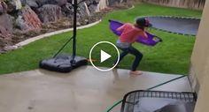 Inesperado Temporal Obriga Criança a Travar Hilariante Batalha Contra o Vento