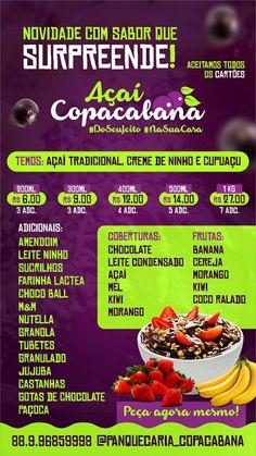 Best Acai Bowl Recipe, Instagram Blog, Food Design, Food Truck, Recipes, Marketing, Ice Cream Menu, Ice Cream Decorations, Acai Berry Bowl