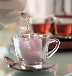 Efeito especial: tufos de algodão-doce podem substituir o açúcar na hora do chá
