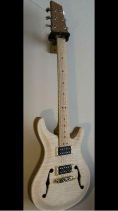 PRS Style hollow body guitar by Morganti Wood Werks. Flamed Maple Top, mahogany body follow me on Twitter @MorgantiWerks