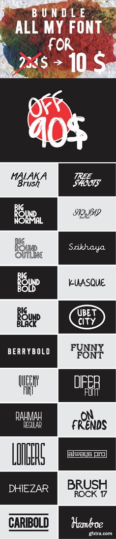 Graphicriver BUNDLE ALL MY FONT 12815578 - 22 Font Family