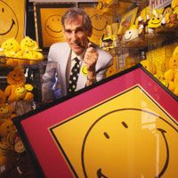 Yellow Smiley Face. The very first yellow Smiley Face was created by Harvey Ball. They were EVERYWHERE in the '70's