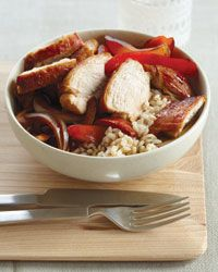 Ginger-Marinated Chicken with Onions and Peppers // More Terrific Chicken Recipes: http://www.foodandwine.com/slideshows/chicken #foodandwine