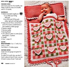 Hearts and Gingham Knapsack from page 48 of the November 2007 issue of Crochet magazine