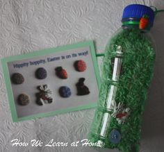 Easter Egg Hunt Bunny Preschool Activity ISpy. cute. hide small easter objects in easter grass...