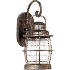 "Kenroy Beacon Small Wall Lantern - Flint 90951FLDimensions:  6""..."