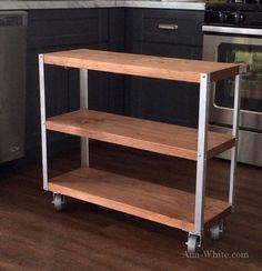 Shelf hack - metal angle corners and 2x12 boards so easy!